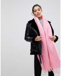 ASOS   Supersoft Long Woven Scarf With Tassels   Lyst