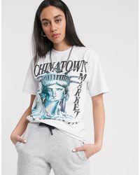 Chinatown Market Oversized Nyc T-shirt - White