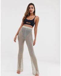 South Beach Metallic Mesh Beach Trousers