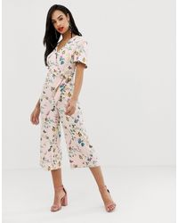 Oasis Angel Sleeve Jumpsuit - Multicolour