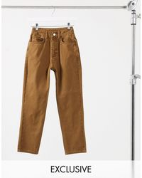 Reclaimed (vintage) Inspired The '91 Mom Jean - Brown