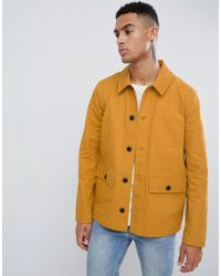 ASOS DESIGN - Worker Jacket In Mustard - Lyst
