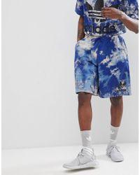 adidas Originals - Adicolor Tie-dye Shorts In Navy Cw1339 - Lyst