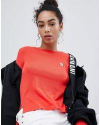 Armani Exchange - Face Motif Long Sleeve Top - Lyst