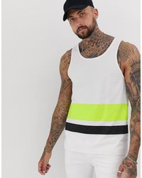 Another Influence Double Stripe Tank - Yellow