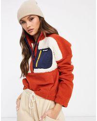Columbia Флисовый Пуловер Кирпичного Цвета Из Искусственного Меха Lodge-оранжевый Цвет - Красный