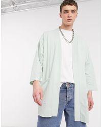 ASOS Lightweight Jersey Kimono Cardigan - Blue
