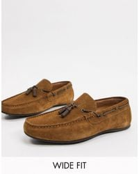 ASOS Wide Fit Driving Shoes - Brown