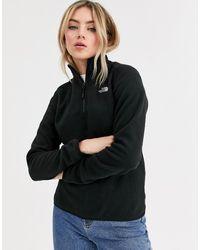 The North Face Womens 100 Glacier 1/4 Zip Fleece In Black