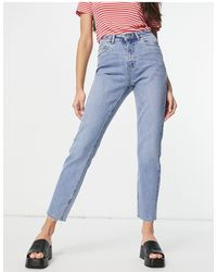 Vero Moda - Jeans dritti lavaggio azzurro - Lyst