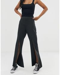 Amy Lynn Pantalon large - Noir