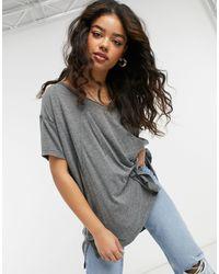 Free People Oversized-футболка -серый