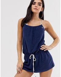Polo Ralph Lauren – Strandkleid mit Seil-Details und Logo - Blau