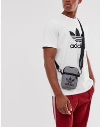 adidas Originals - Bolso de mano gris con logo de trifolio - Lyst