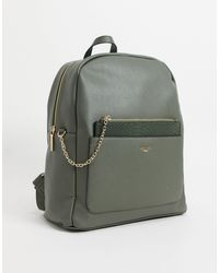 Dune Darley Backpack With Reptile Pouch - Green