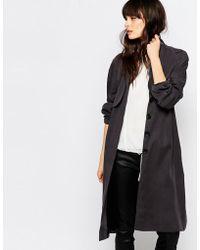 Just Female Trust Soft Trench Coat - Black
