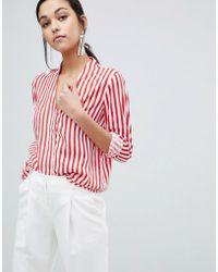 Y.A.S Trey Striped Shirt - Red