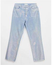TOPSHOP Kort - Jeans - Metallic