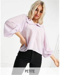 Y.A.S Petite Y.a.s. petite - blouse avec col - lilas - Violet