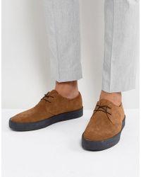 Vagabond Luis Suede Crepe Effect Sole Shoes - Brown