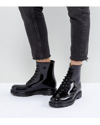 ASOS - Global Wide Fit Lace Up Wellies - Lyst