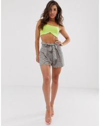 PrettyLittleThing Belted Floaty Shorts - Multicolor