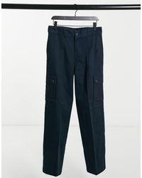 Dickies - Pantaloni cargo multitasche blu navy - Lyst