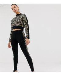 PUMA - Cheetah Print Side Stripe T7 legging - Lyst