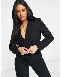 ASOS Mansy Crop Suit Blazer - Black