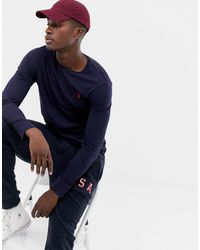Polo Ralph Lauren - Темно-синий Лонгслив С Логотипом - Lyst