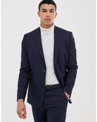 New Look Skinny Suit Jacket In Navy - Blue