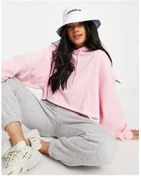adidas Originals Cappello da pescatore double-face, bianco con logo su tutta la superficie