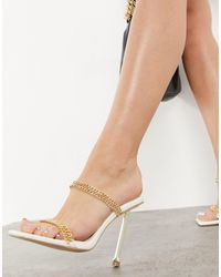 SIMMI Shoes Simmi London Jessy Mules With Chain Detail - White