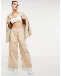 ALIGNE Organic Cotton Wide Leg Trousers - Natural