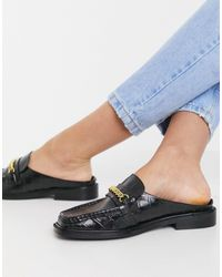 ASOS Munro Leather Mule - Black