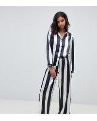 Wolf & Whistle - Stripe Print Long Pyjama Set - Lyst
