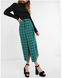 TOPSHOP Midi Skirt - Green