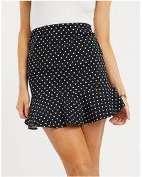 ASOS Bengaline Flippy Mini Skirt - Black