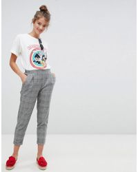 Pull&Bear - Pinstripe Tapered Pants - Lyst