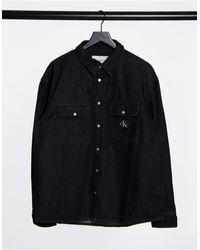 Calvin Klein Oversized Denim Shirt - Black