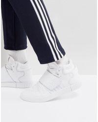 53d2c6e3e4761f adidas Originals - Tubular Invader Strap Unisex Trainers In White - Lyst