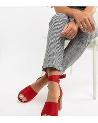 Park Lane - Wide Fit Tie Leg Block Heeled Sandals - Lyst