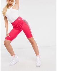 adidas Originals Розовые Шорты-леггинсы Adicolor-розовый