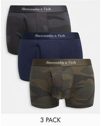 Abercrombie & Fitch 3 Pack Logo Waistband Trunks - Multicolour