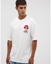 Only & Sons Boxy Fit T-shirt With Back Print - White