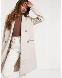 Y.A.S Manteau croisé en laine - Crème - Blanc