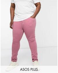ASOS Vaqueros ajustados en rosa