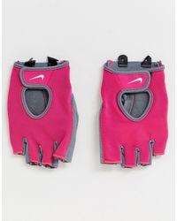 Nike Розовые Спортивные Перчатки Fundamental-розовый - Многоцветный