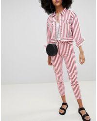 Pull&Bear - Co-ord Mom Jean In Stripe - Lyst
