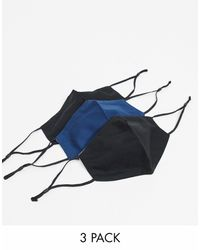 ASOS 3-pack Face Covering - Blue